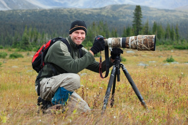 John E Marriott, professional wildlife photographer, Tonquin Valley, Jasper